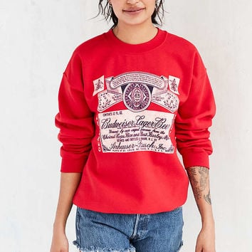 Junk Food Budweiser Pullover Sweatshirt - Urban Outfitters