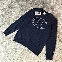 Champion Simple Print  Round Neck Top Sweater Pullover