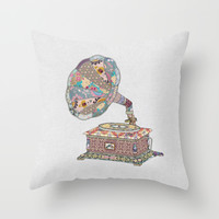 SEEING SOUND Throw Pillow by Bianca Green