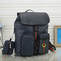 LV Louis Vuitton GG retro all-match backpack for men and women two-piece