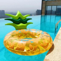 Inflatable Pineapple WatermelonSwimming Ring  Pool Float Swimming Circle for kids and adults Floating Ring Swiming Wheels