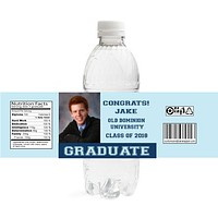 Graduate Graduation Water Bottle Labels