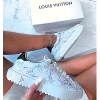 Louis Vuitton LV Sneakers Marble texture Contrast Shoes