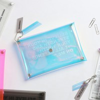 Square clear pocket folding pouch bag