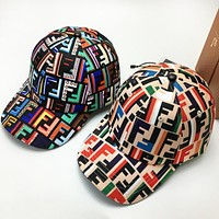 Fendi High quality new fashion multicolor more letter couple cap hat