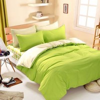 Cool 1pcs Cotton Blend Duvet Cover Solid Color Comforter Cover Duble Side Can Be Used Twin Full Queen King SizeAT_93_12