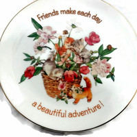 American Greeting Friends Collectible Plate Lasting Memories