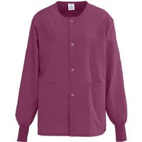 Medline Women's AngelStat Scrub Jacket, XLarge, Raspberry, 849NTRXL