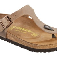 Gizeh Tobacco Oiled Leather Sandals   Birkenstock USA Official Site