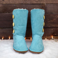 SZ 8.5 Cold As Ice Sea Green Snow Boot