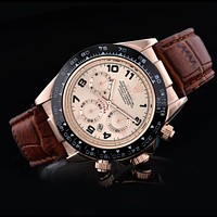 Rolex Delicate Trending Ladies Men Business Sport Movement Lovers Watch Brown Rose Gold Dial I-SBHY-WSL