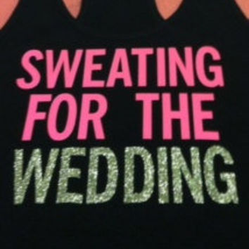 Sweating for the Wedding in Black Work-out Tank Top
