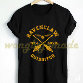 Ravenclaw Shirt Ravenclaw House Quidditch Tshirt Harry Potter T Shirt Black and Navy Color Unisex T-Shirt