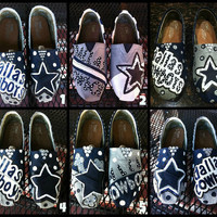 Handpainted Dallas Cowboys TOMS Shoes by TheCraftyAttique on Etsy