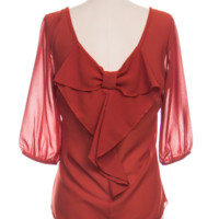 Rosy Bow Back Blouse