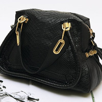 New Arrival Free Shipping - 100% Real Anaconda Leather Paraty Bag