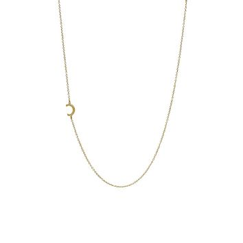"""""""C"""" Offset Initial Necklace"""