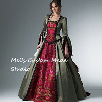 Custom Made 18th Century McCall's Western Bustle Ball Gown / French Renaissance Gown/party Dress/Costume Dress