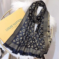Louis Vuitton LV  Women Wool Scarf Shawl Scarf