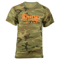 Camo Shiner Beers Shirt with Safety Graphic