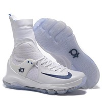 HCXX Nike Men's Durant Zoom KD 8 High-Top Basketball Shoes White 40-46