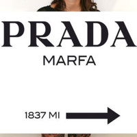 Prada Marfa poster print on paper or canvas up to A0 size