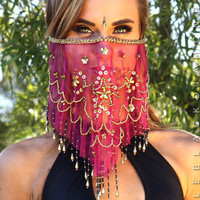 Women's Boutique Swim, Festival & Rave Face veils | Little Black Diamond