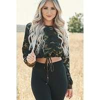 Tomboy Long Sleeve Top (Army)
