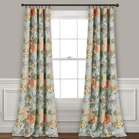 Hummingbird Garden Room Darkening Window Curtains