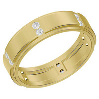 ANTIQUE CZ STUD 925 STERLING SILVER ENGAGEMENT AND WEDDING BAND FOR HIS