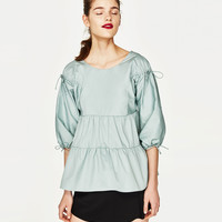 TOP WITH CORDS DETAILS