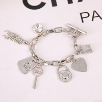 New Arrival Hot Sale Gift Great Deal Shiny Stylish Awesome Alloy Jewelry Heart Bracelet [9664462671]