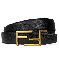 Fendi Fashion New F Letter Buckle Leather Women Men Leisure Belt