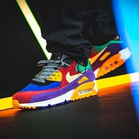 "Nike Air Max 90 QS ""Viotech"" Uni Red/Purple Size 36-46"