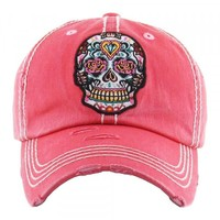 Embroidered Skull Hat