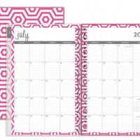 """Dabney Lee for Blue Sky """"Hexagon"""" Medium Tabbed Weekly/Monthly Wire-O Planner"""