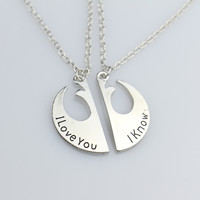 Star Wars Rebel Insignia Lovers' Couple Necklace