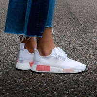 Best Online Sale Adidas WMNS NMD R1 Footwear White/Icey Pink Boost Sport Running Shoes Classic Casual Shoes Sneakers