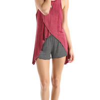 OPEN BACK WRAP TANK - WINE