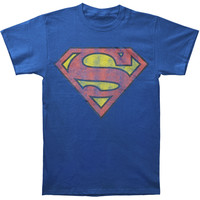 Superman Men's  Logo T-shirt Blue Rockabilia