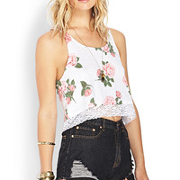 Fleeting Floral Lace Tank