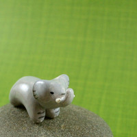 Motion Elephant  Hand Sculpted Miniature by MadeWithClayAndLove