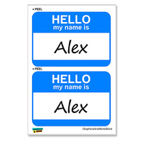 Alex Hello My Name Is - Sheet of 2 Stickers