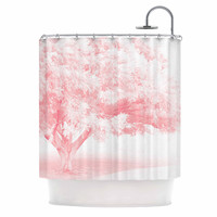 """Sylvia Coomes """"Pink Frost """" White Photography Shower Curtain"""