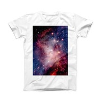 The Vibrant Space ink-Fuzed Front Spot Graphic Unisex Soft-Fitted Tee Shirt