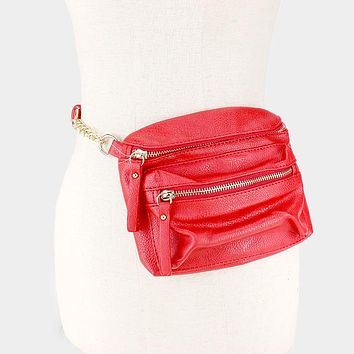 Leather Crossbody Bag / Fanny Pack Dual (Click For More Colors)