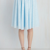 Tulle of the Trade Skirt in Powder Blue | Mod Retro Vintage Skirts | ModCloth.com
