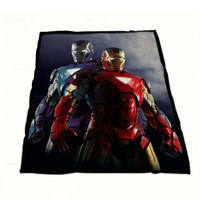 Iron Man Tony and Jarwis in Armor Fleece Blanket