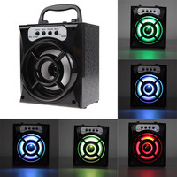 Free Shipping Outdoor Bluetooth Portable Speaker Super Bass with USB/TF/AUX/FM Radio High Quality