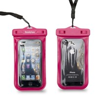 DandyCase Neon Pink SLIM Waterproof Case for Apple iPhone 5S / 5 / 5C & Apple iPod Touch 5 (Will NOT fit other smartphones) - IPX8 Certified to 100 Feet [Retail Packaging by DandyCase]